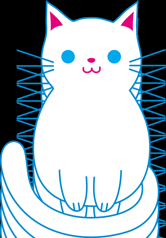 Cute white cat free. Kittens clipart orange kitten