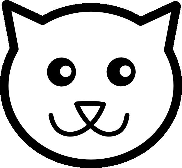 Clipart halloween face. Cat line art clip