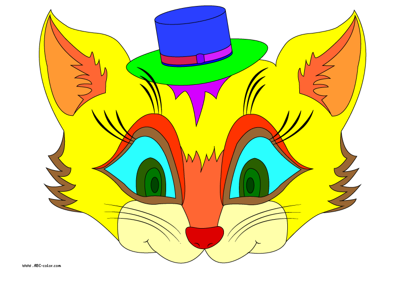 Cat mask raster . Mountains clipart bitmap
