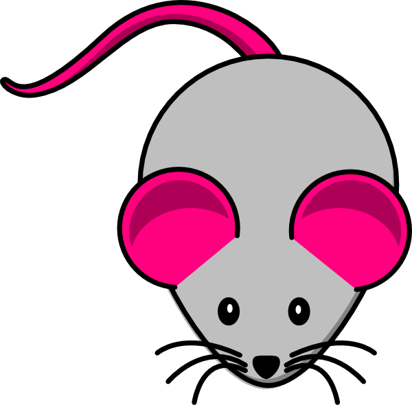 Grey pink clip art. Clipart mouse standing