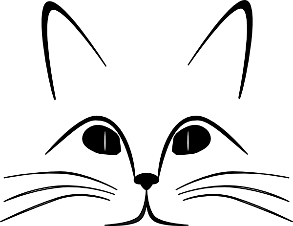 Clipart cat mouth. Free black and white