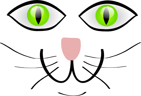 Face features clip art. Clipart cat mouth