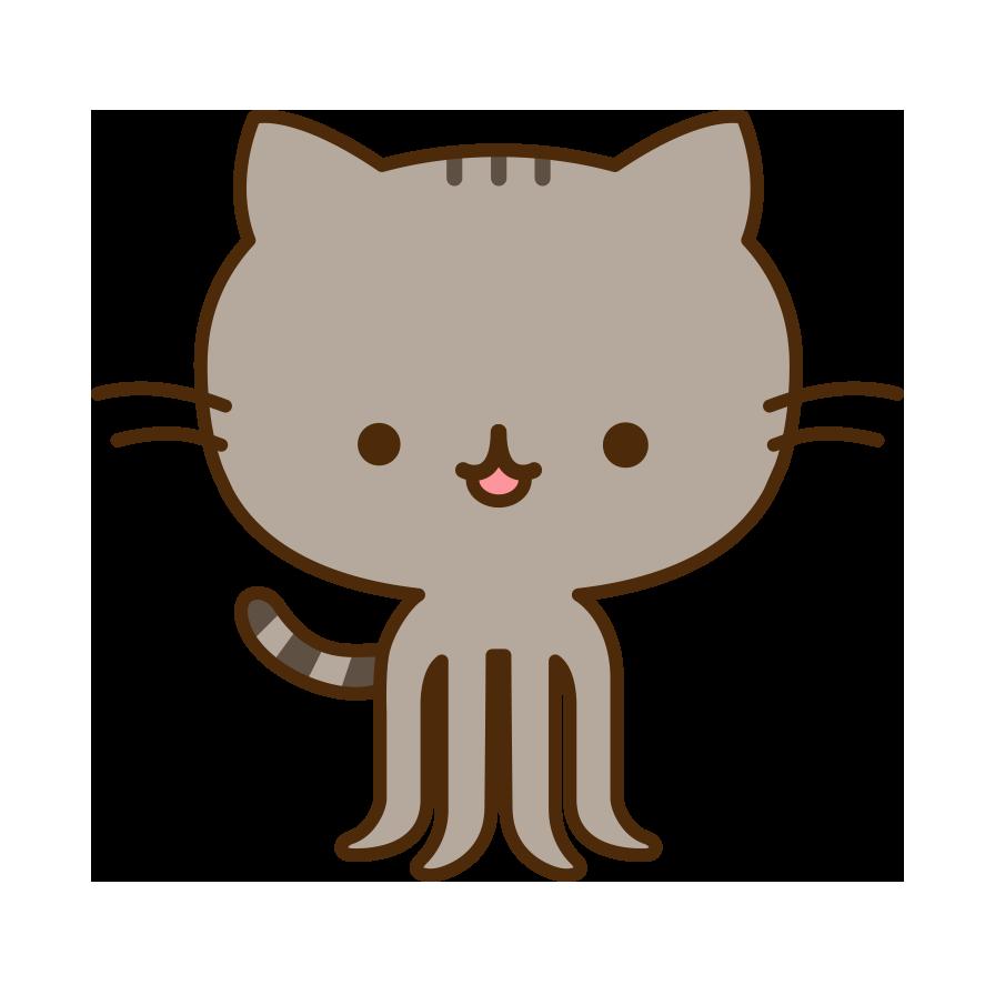 Exercise clipart cat. The pusheencat octocat pinterest