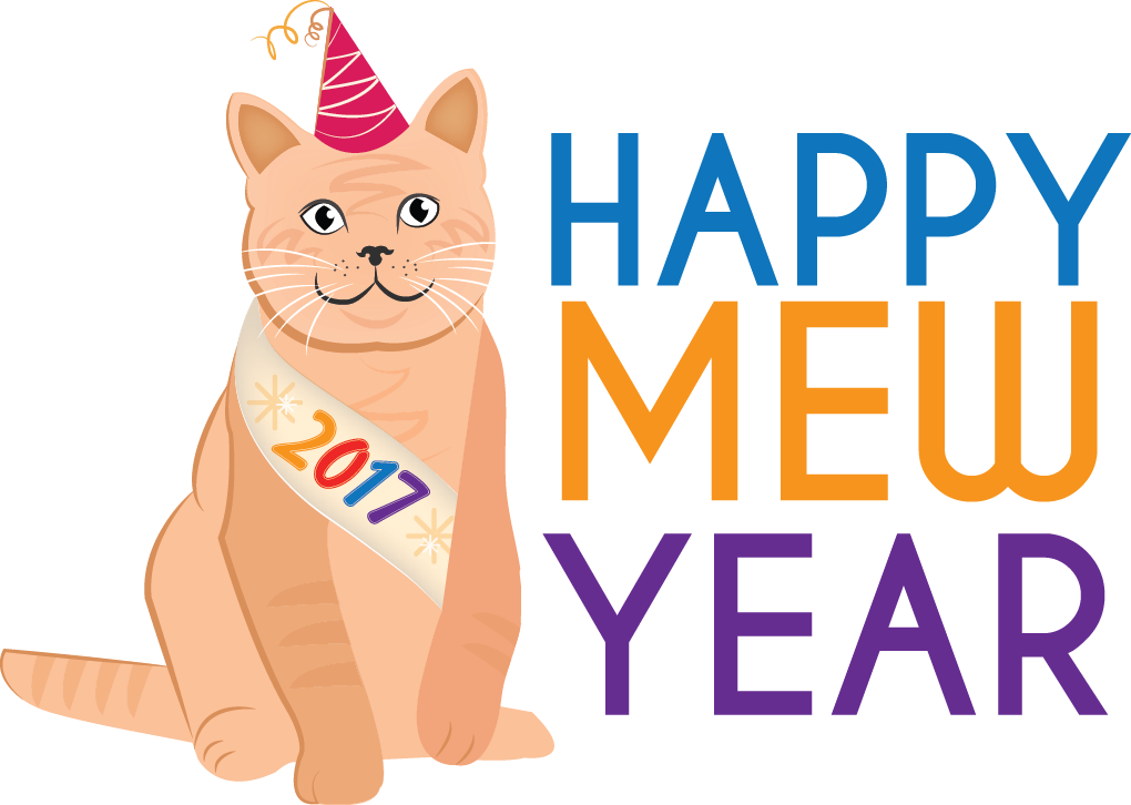Happy mew year from. Pet clipart humane