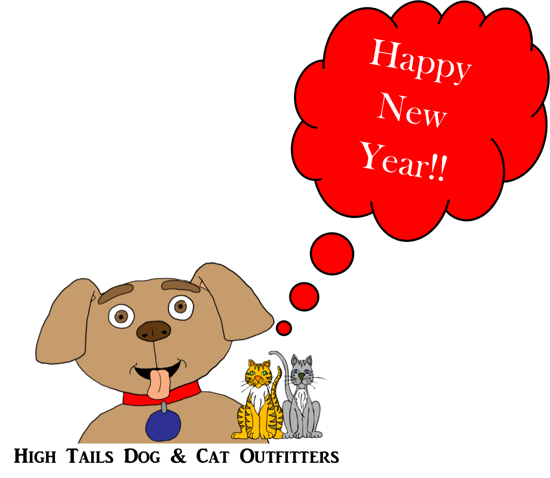 Clipart cat new year. High tails dog outfitters