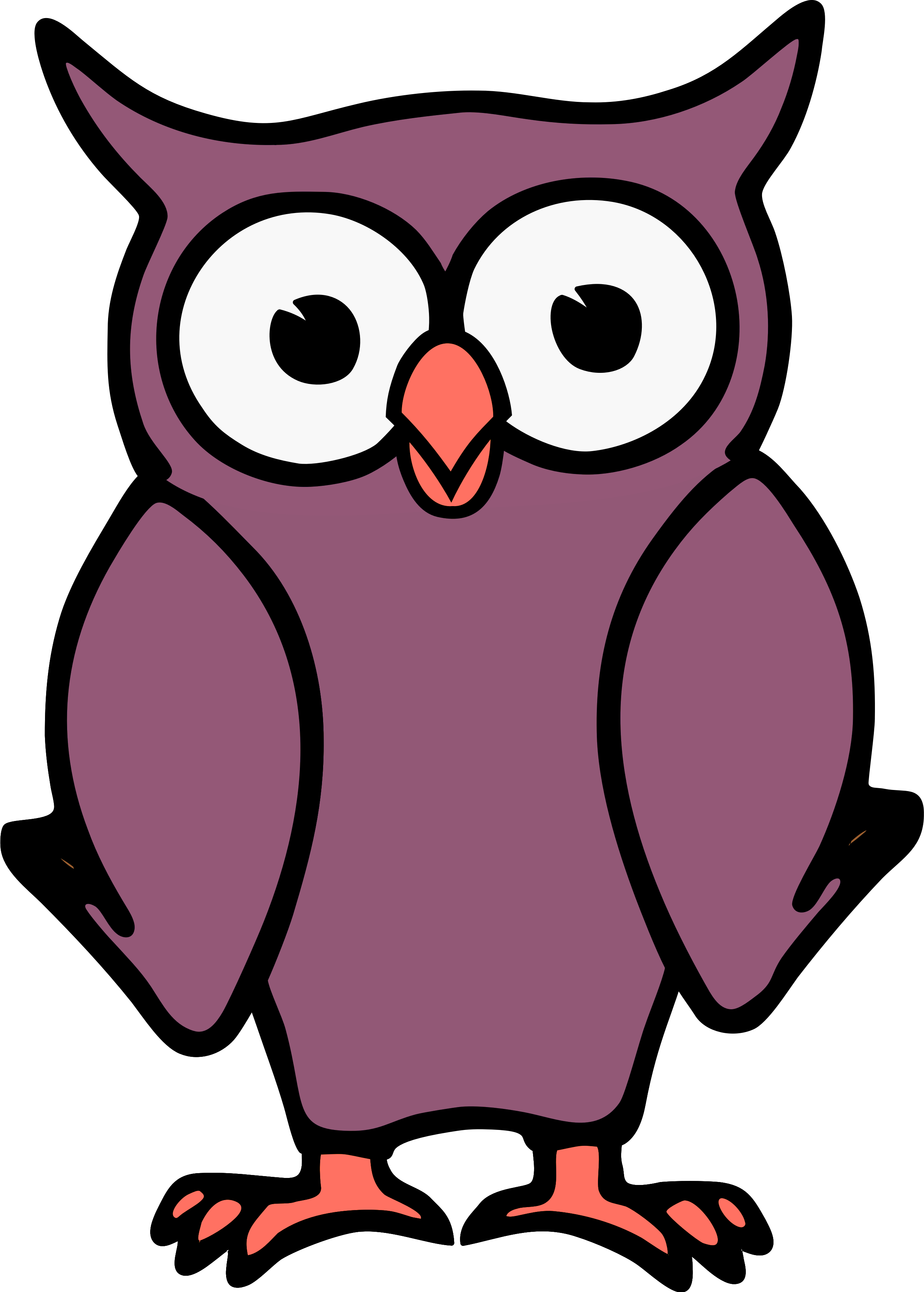 Cartoon design image id. Paper clipart owl