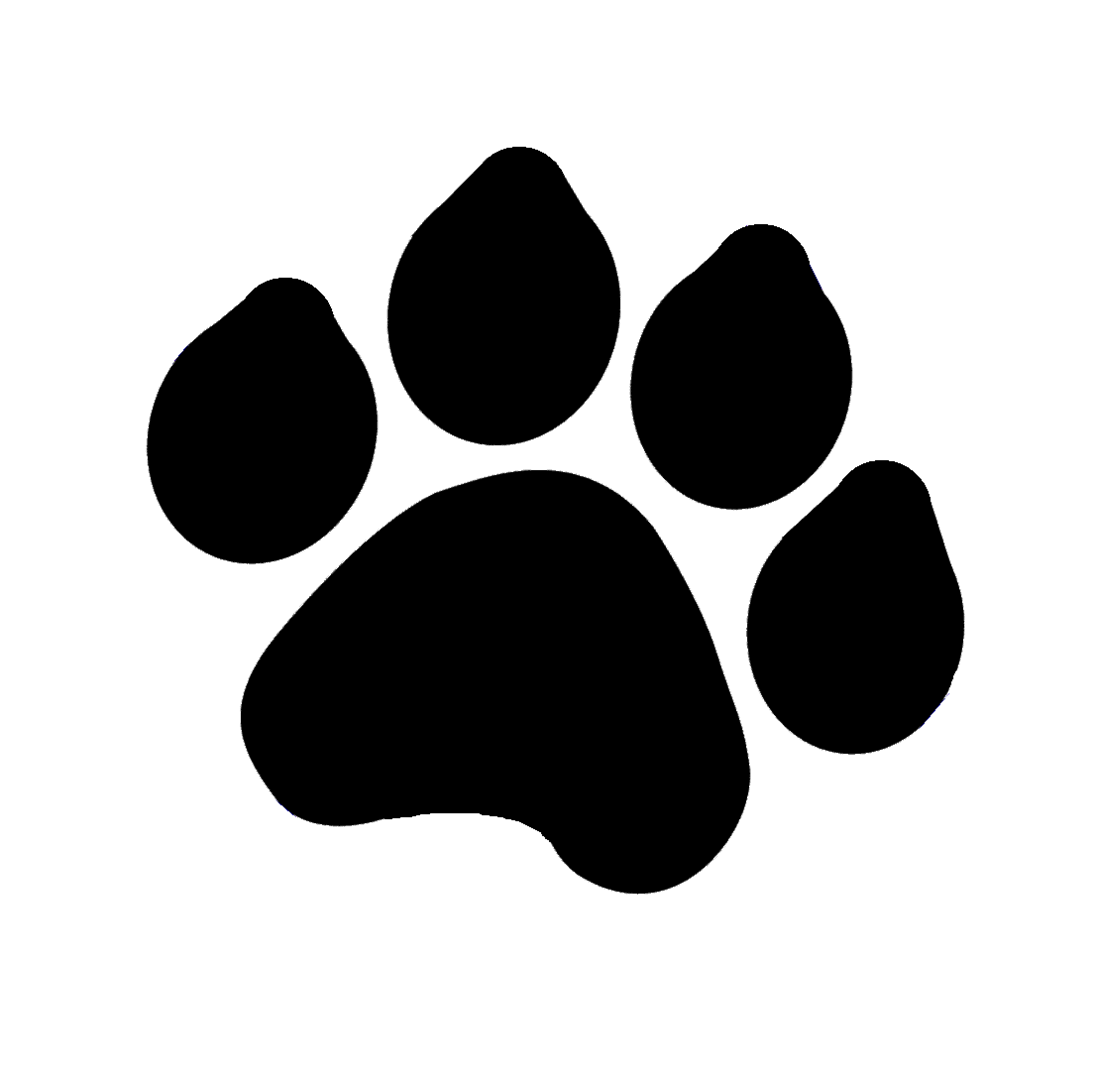 Dog print silhouette at. Husky clipart bear paw