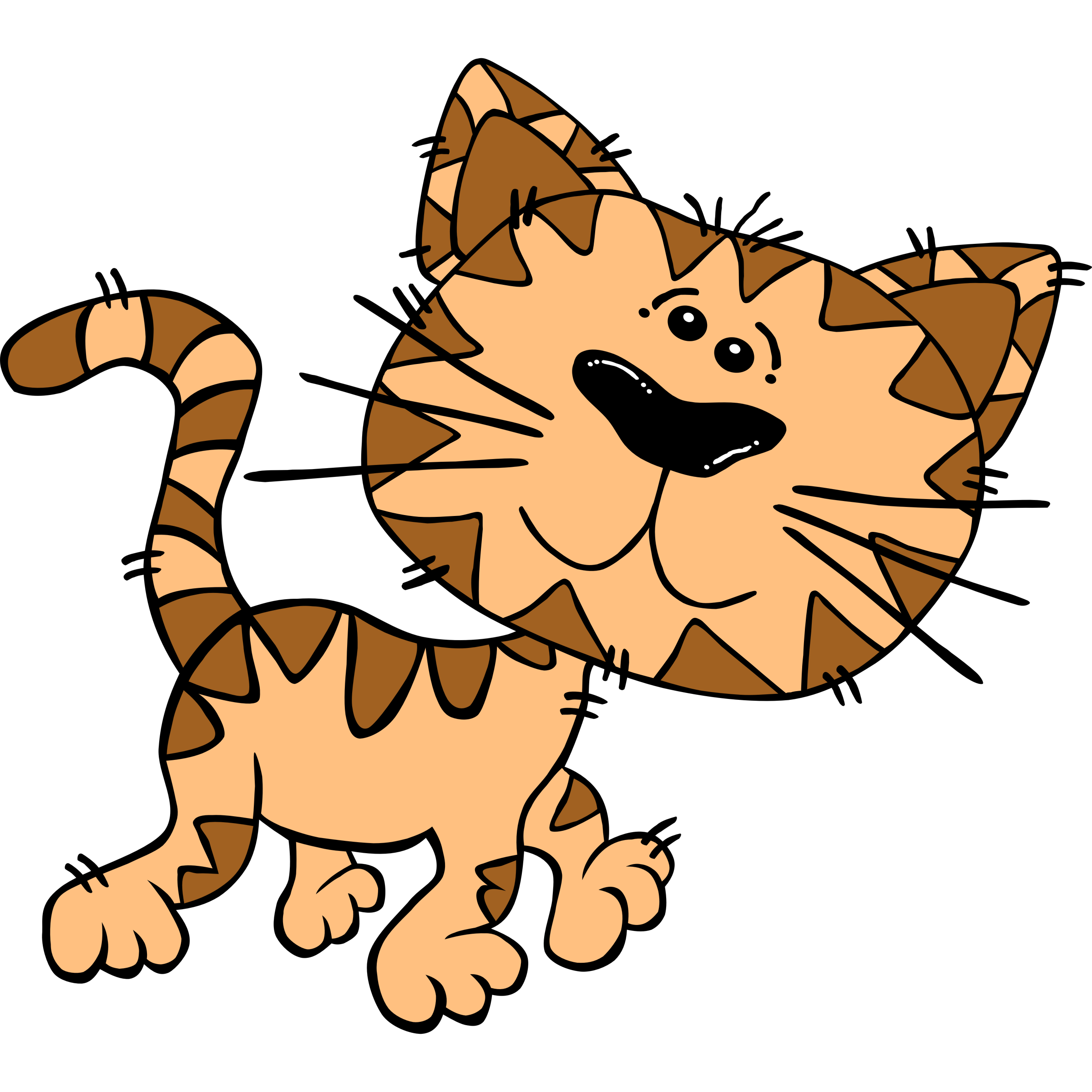 Kitty clipart run.  collection of funny