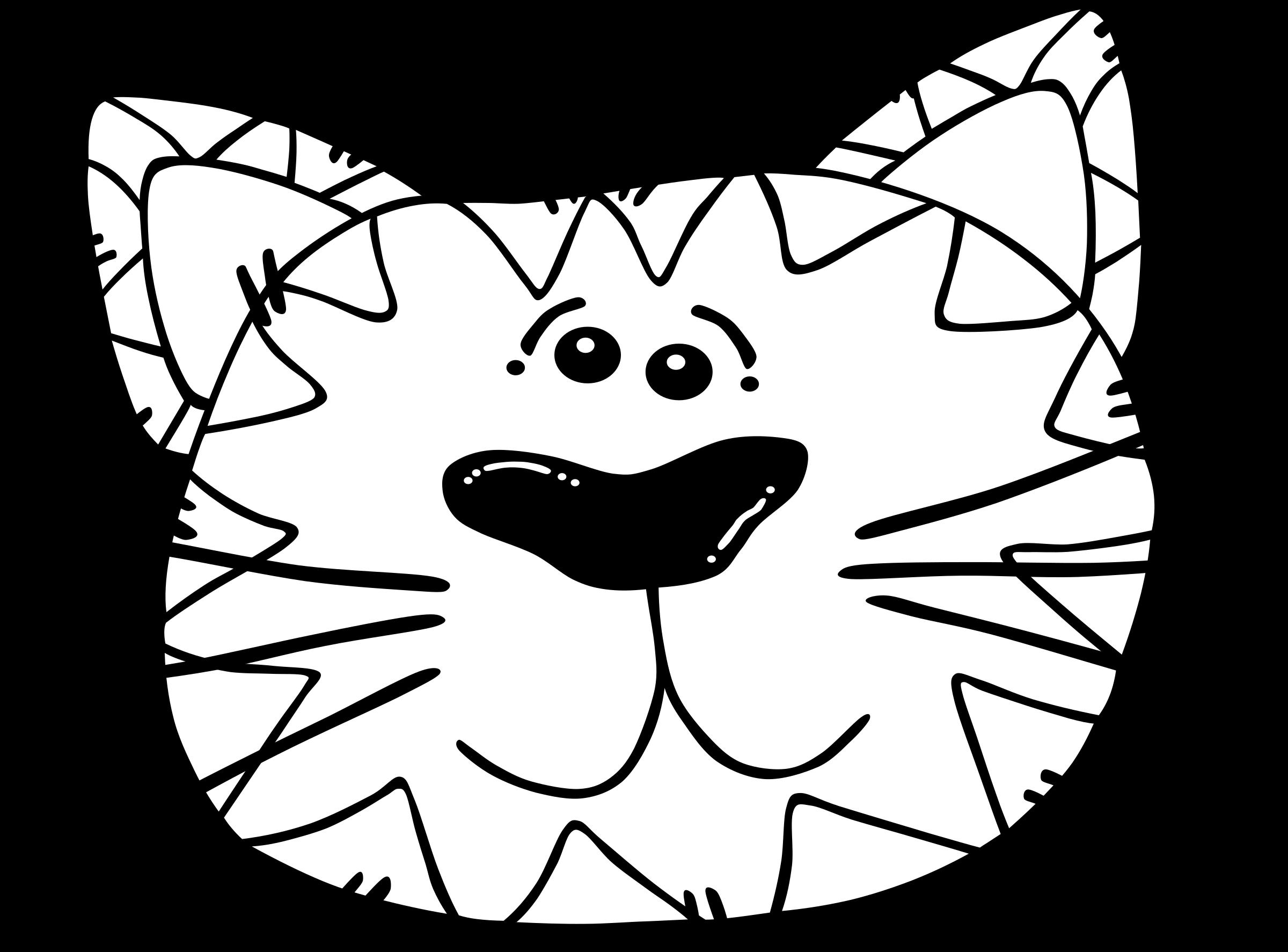 Cat line art big. Mummy clipart black and white