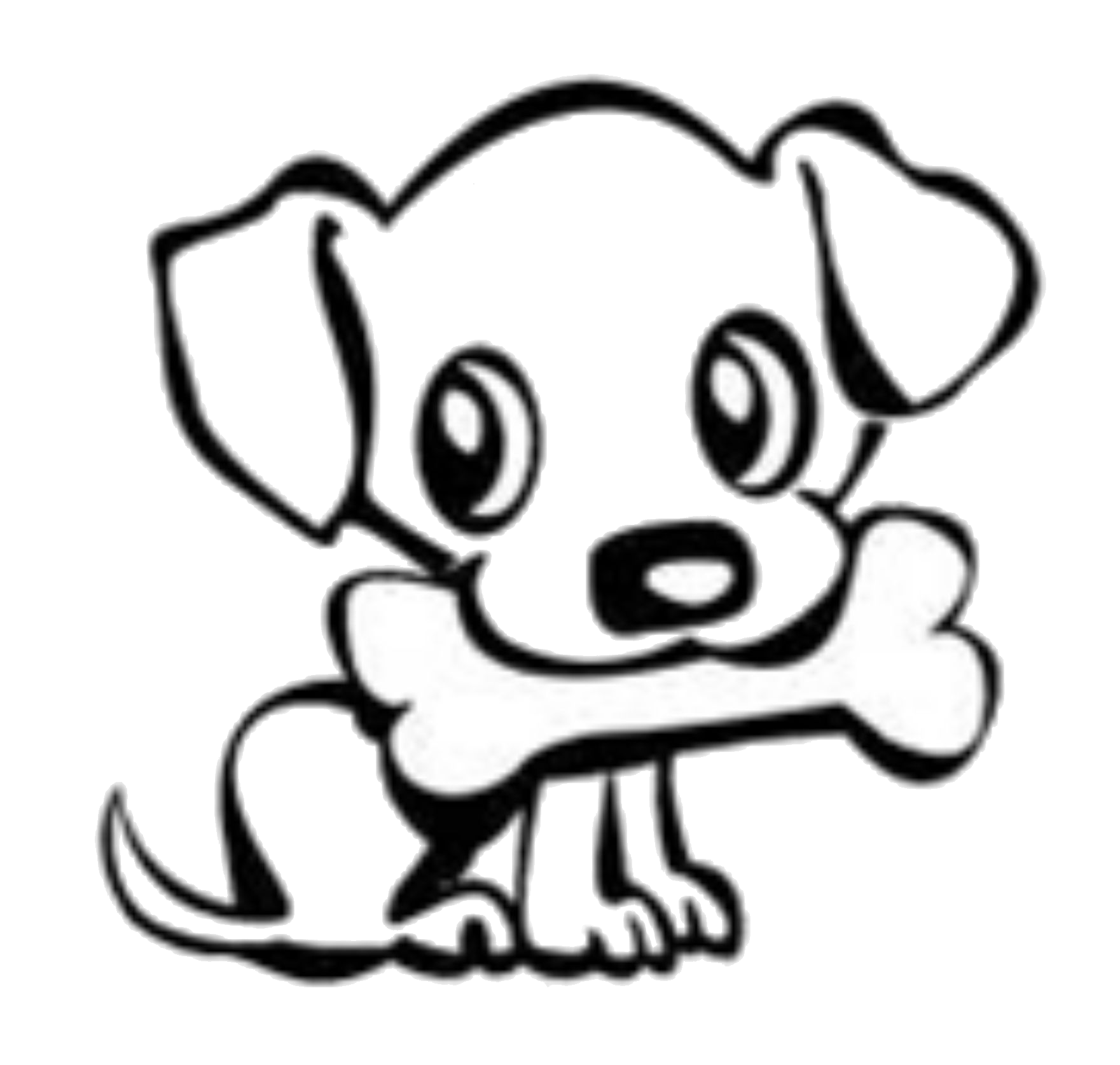 husky clipart cute drawing