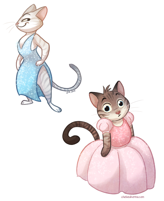 Kitten clipart rat cat. Cats in dresses by