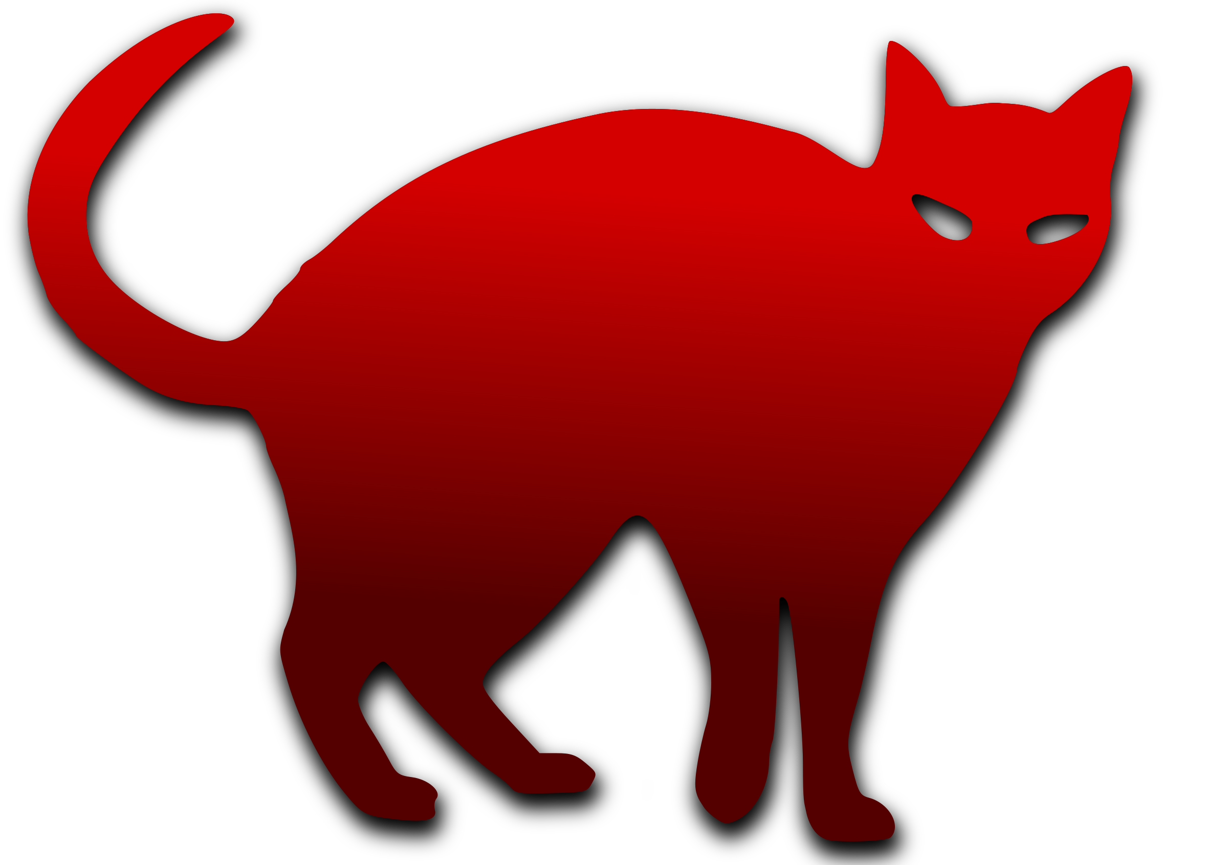 Clipart cat red. Big image png
