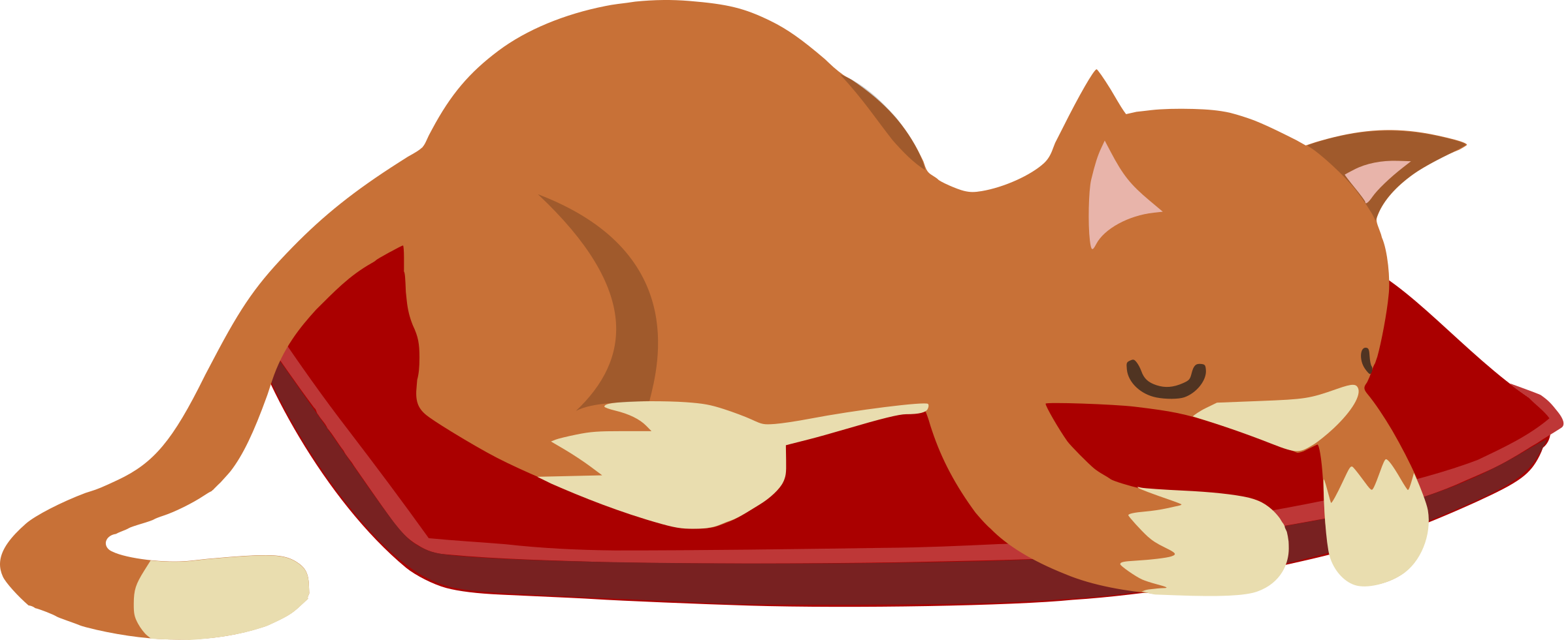 Sleeping from glitch big. Clipart cat red