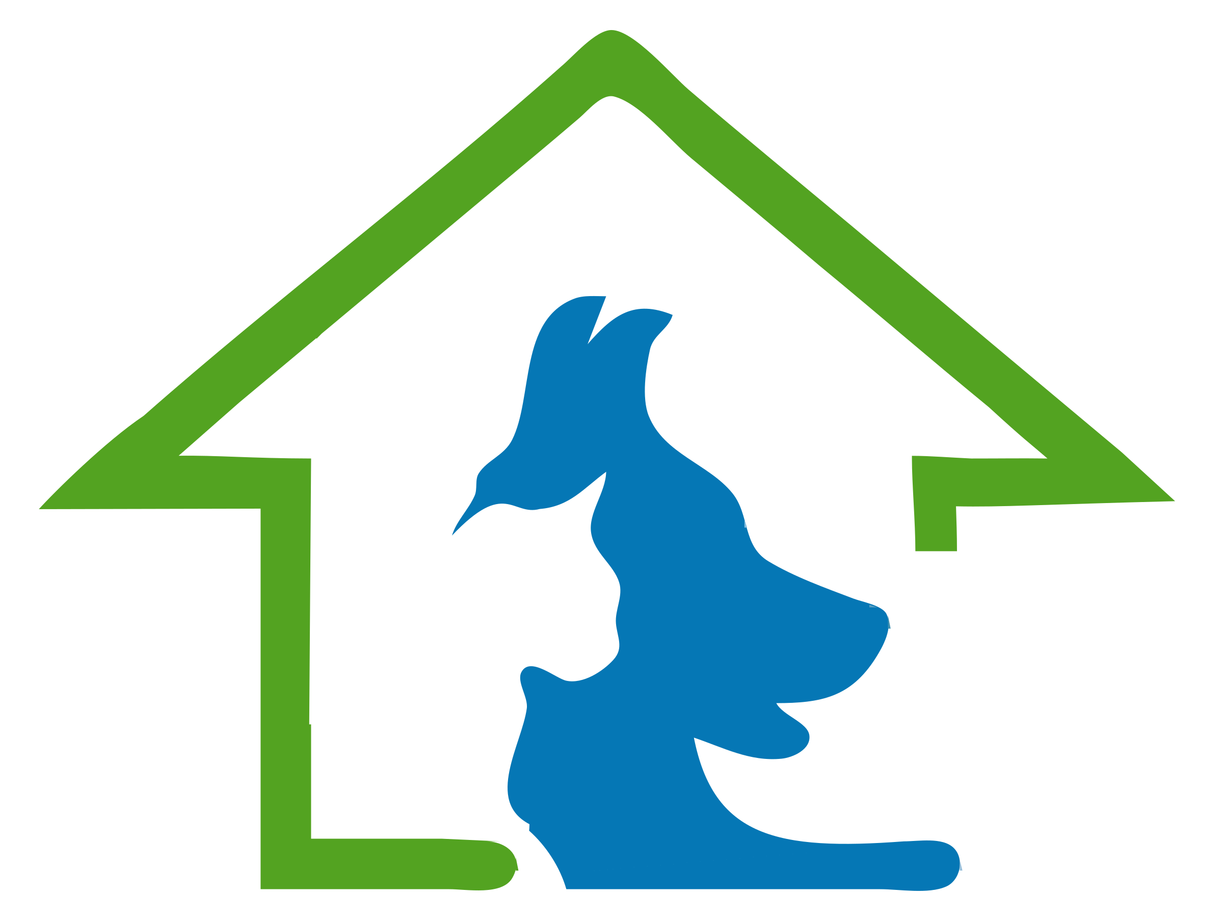 Pet clipart logo. Dog and cat house