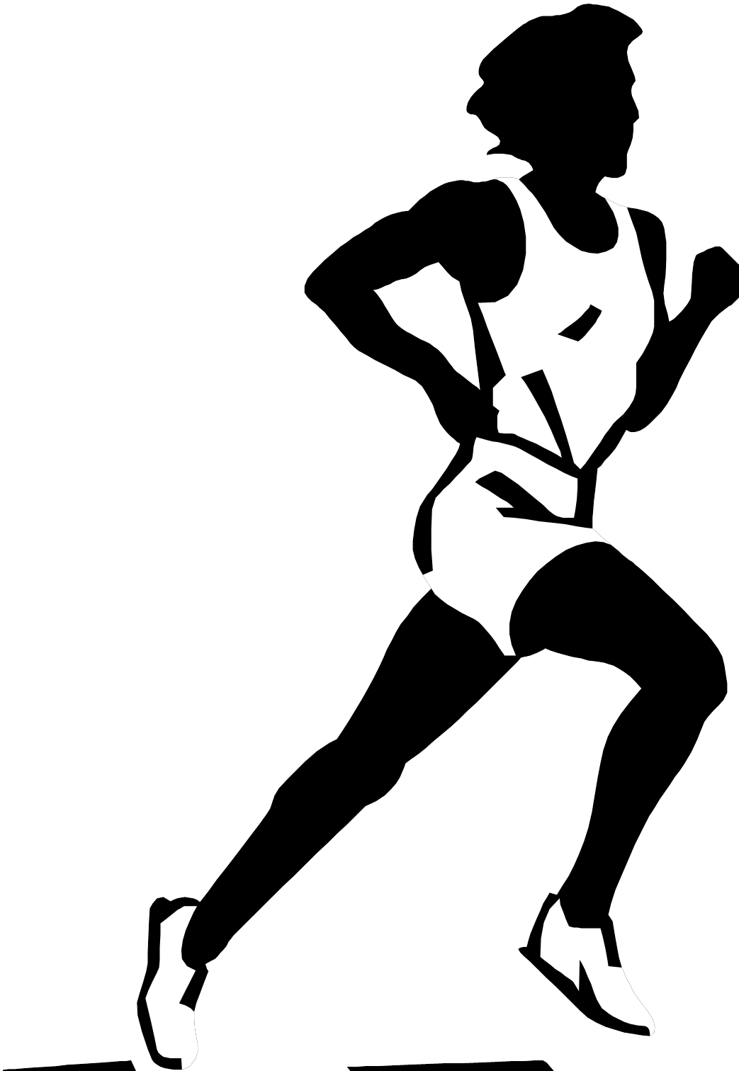 Images for cross country. Exercising clipart african american