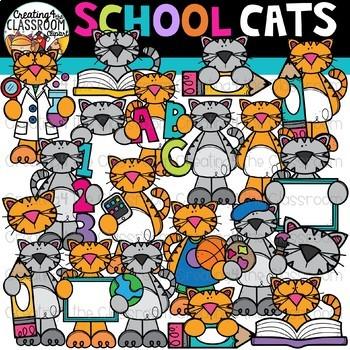 Cats . Clipart cat school