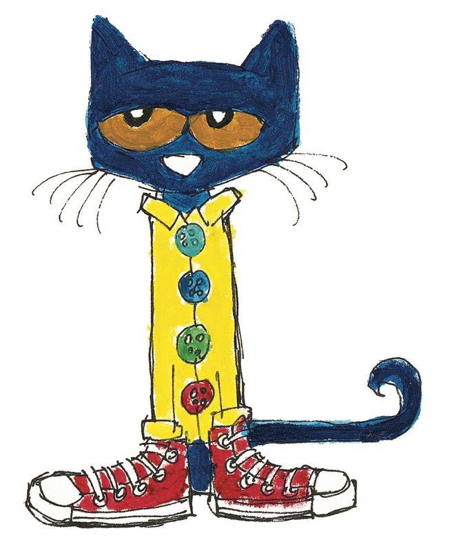 Clipart cat school. Pete the shoes clip