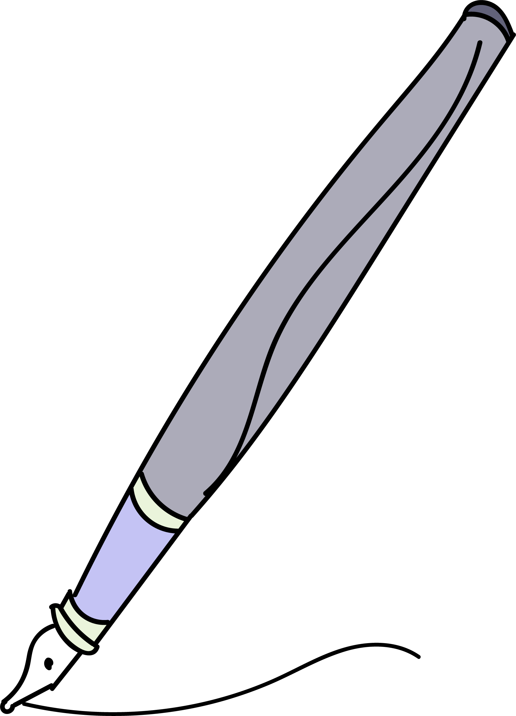 Calligraphy side view png. Clipart images pen