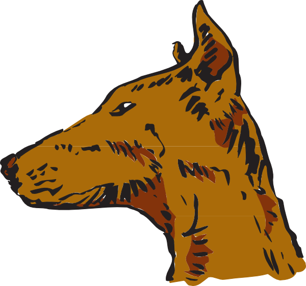 Dogs clipart head. Dog side view clip