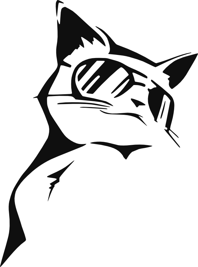 Coolcat by eddy on. Clipart cat stencil