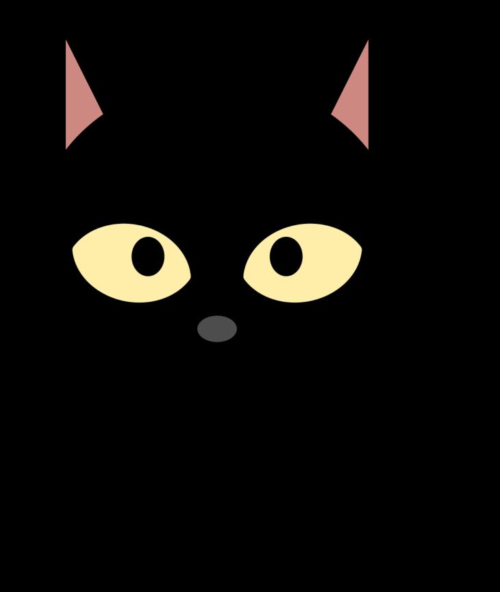 Hand clipart cat. Black strut a cool