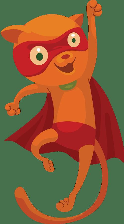 Clipart cat superhero. Super hero the best