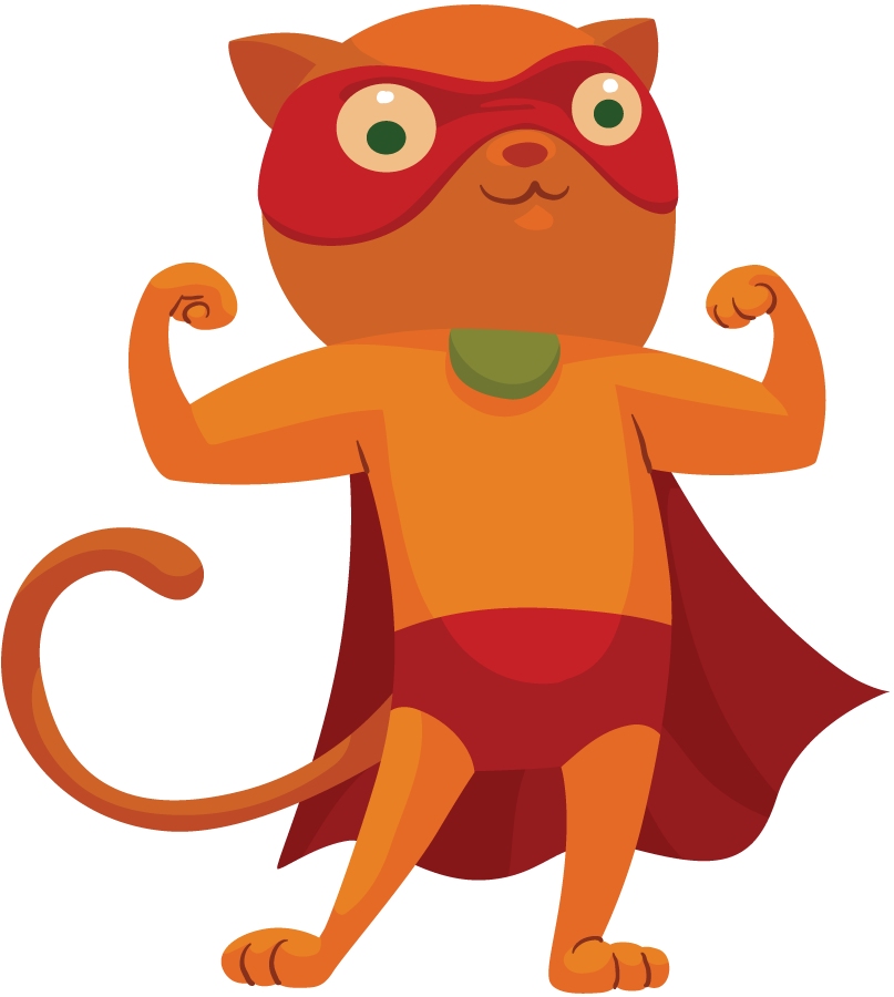 Cat superhero pencil and. Hero clipart animal
