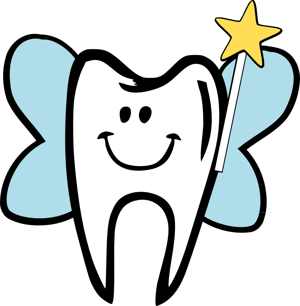 Tooth fairy boy or. Dentist clipart outline