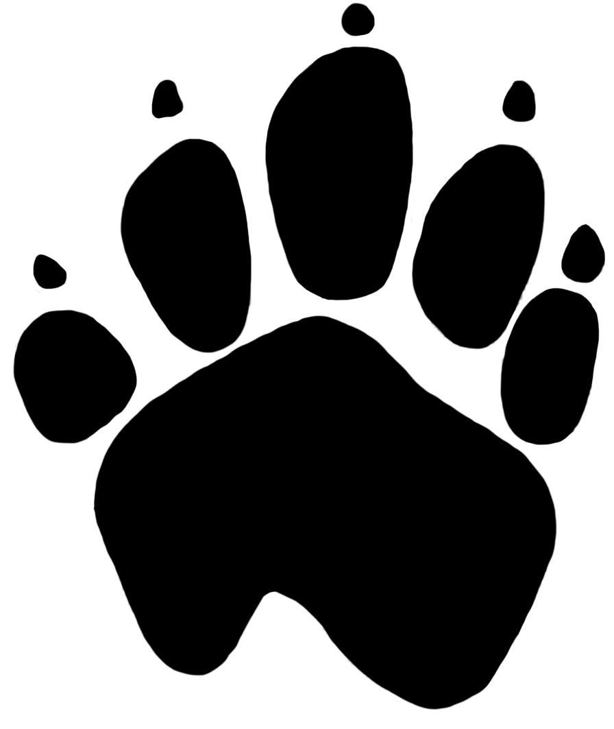 Paw prints transparent png. Kangaroo clipart foot