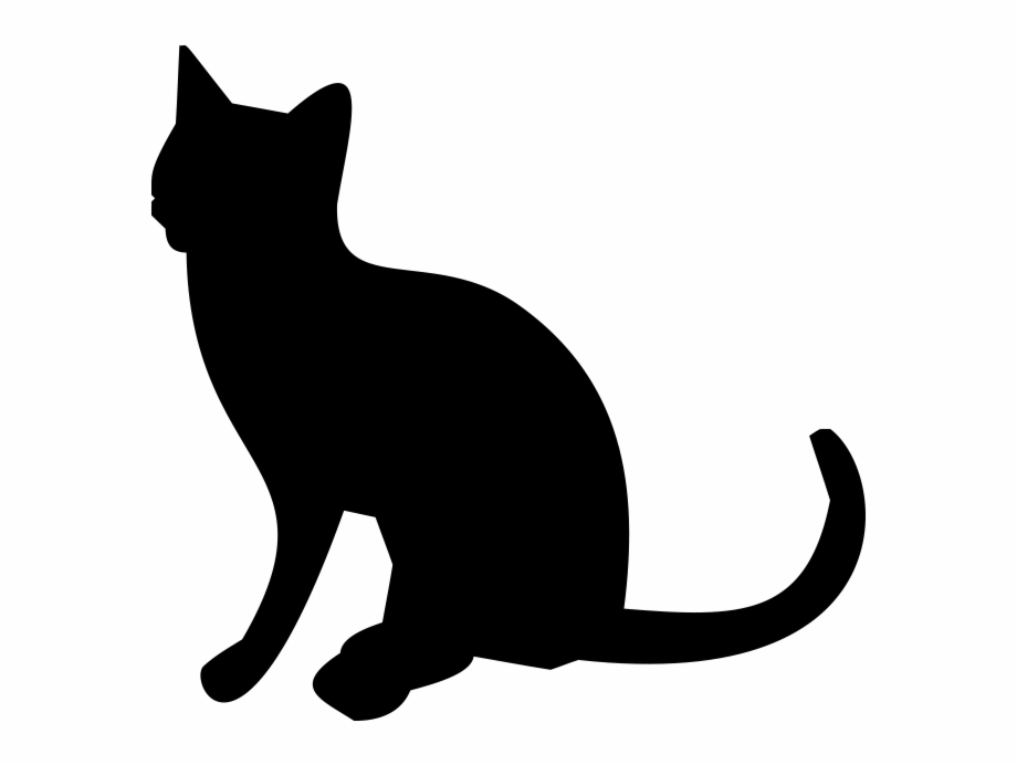 Clipart cat transparent background. Silhouette png behind