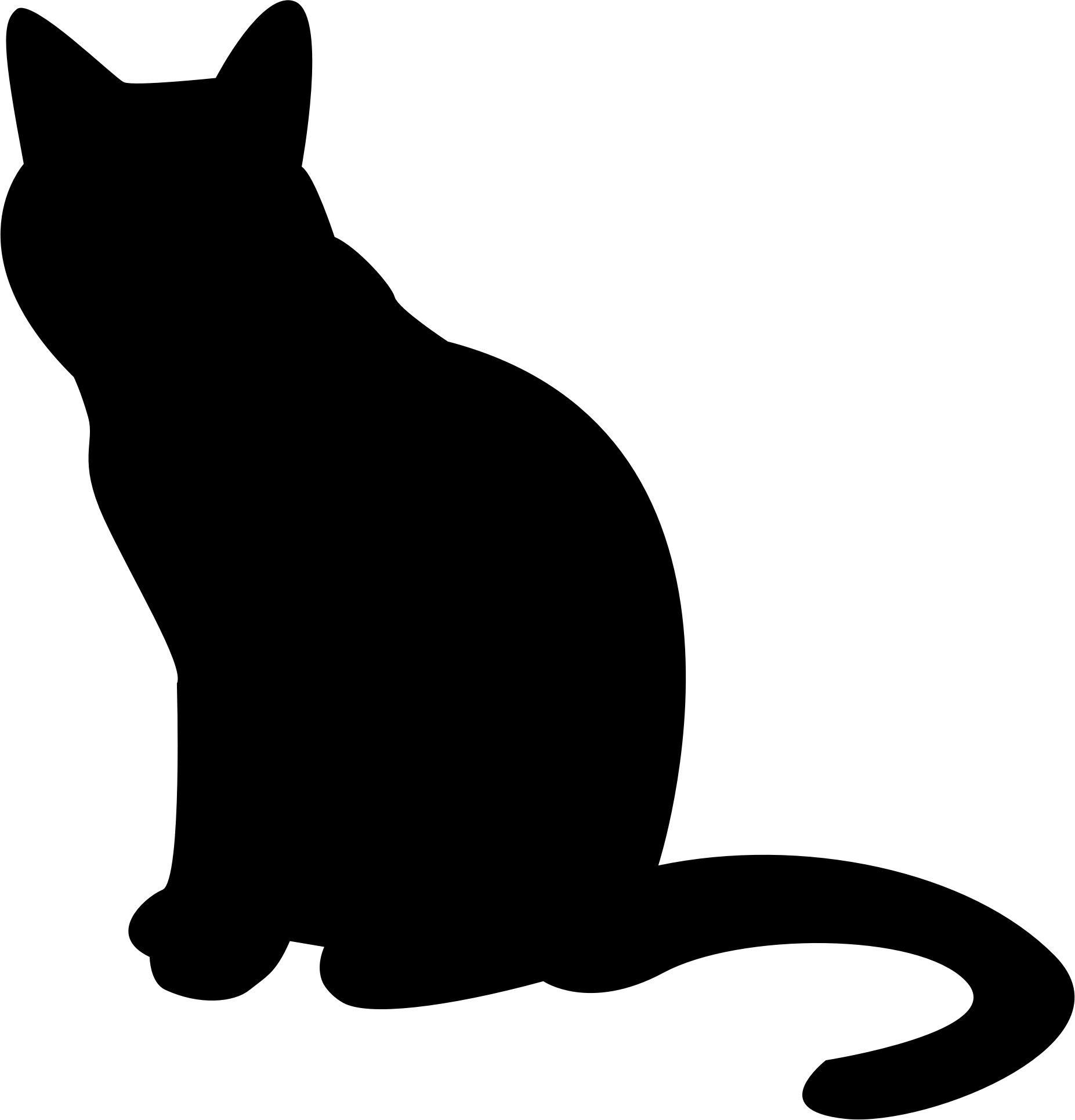 Silhouette png stickpng. Clipart cat transparent background