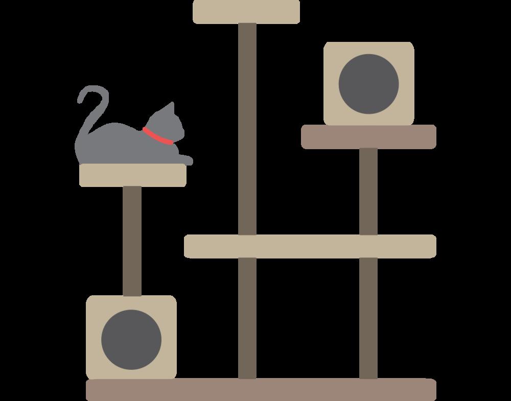 clipart tree cat