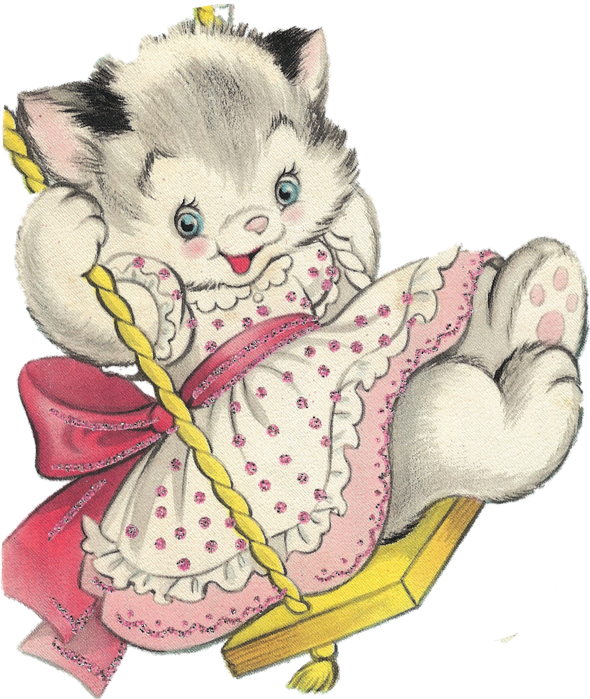 x kb mew. Kitty clipart easter