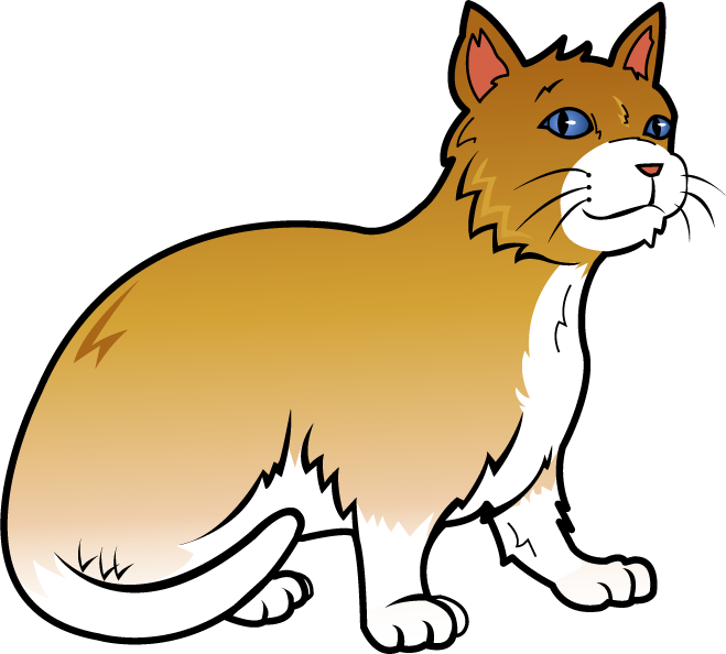 Orange cat fort catc. December clipart pet