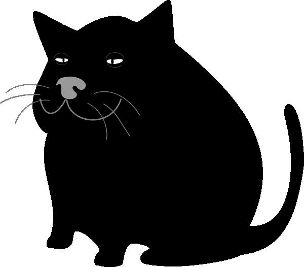 Fat clipart fatso. Black cat clip art