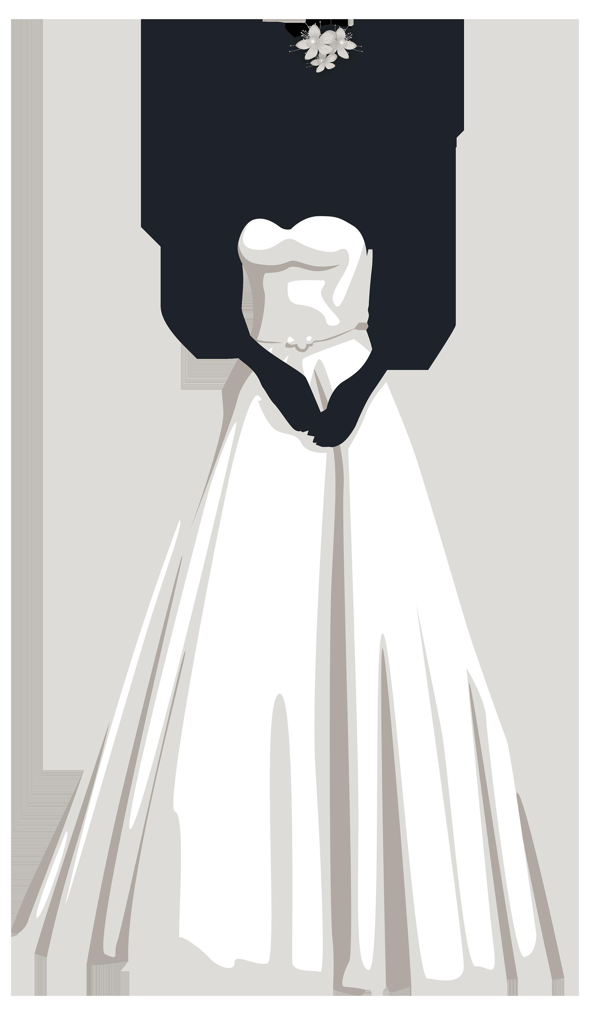 Costume clipart costume design. Bride silhouette png clip