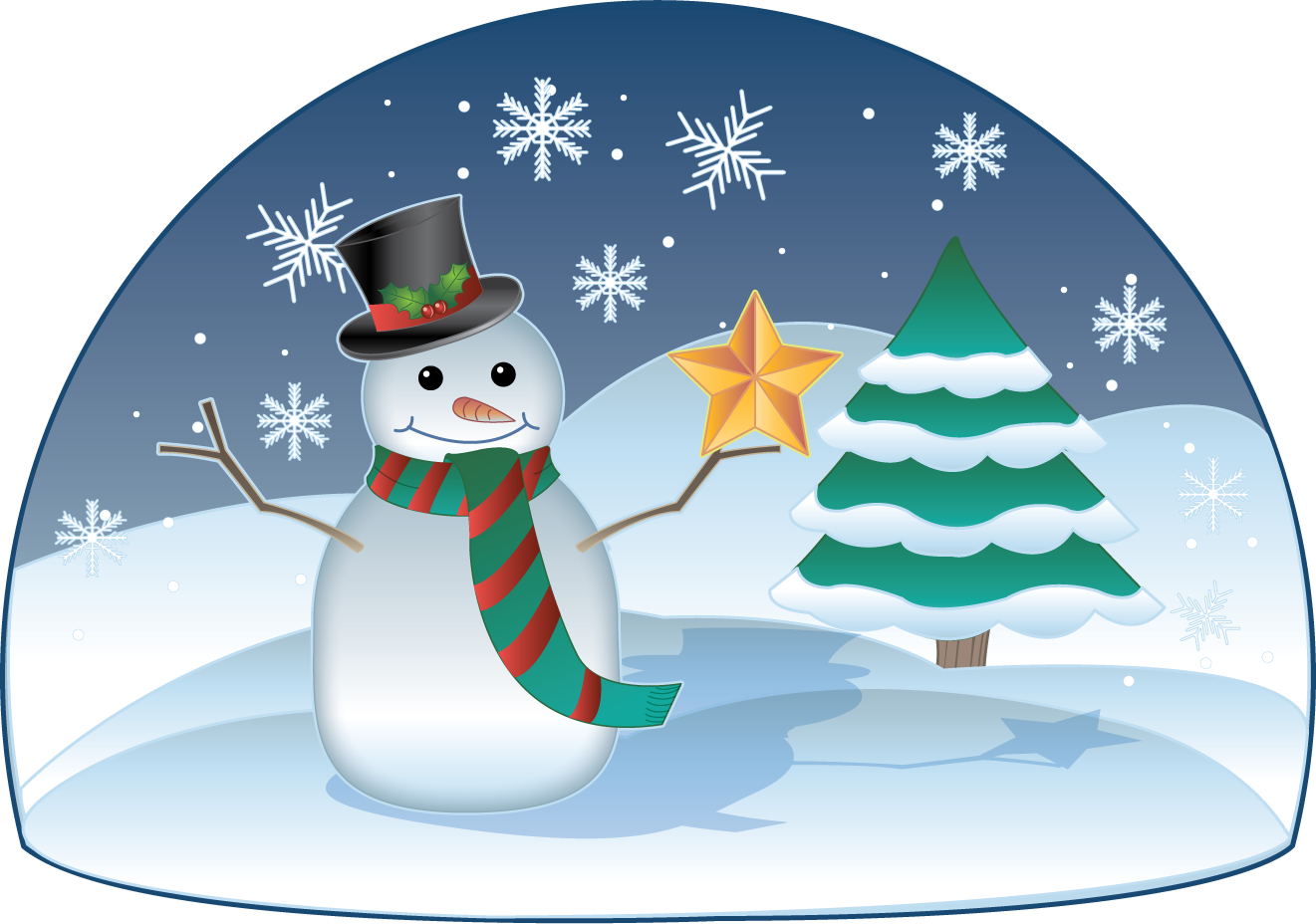 Winter group clip art. Holiday clipart animated