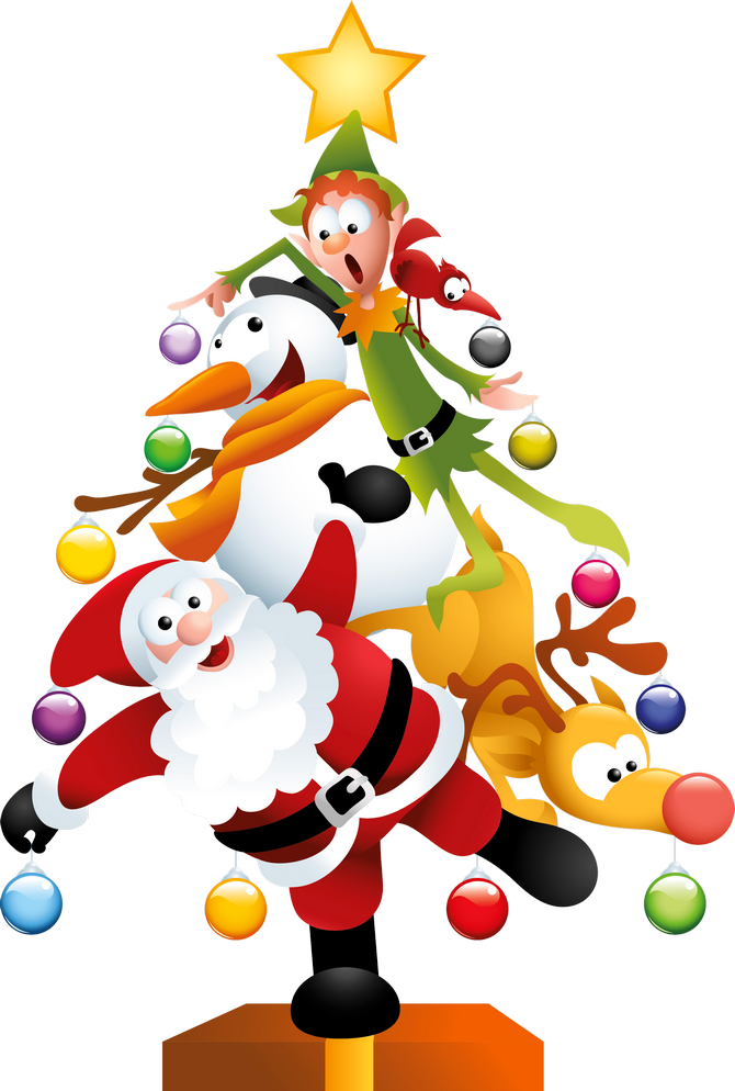 Puzzle clipart christmas. Funny transparent tree png