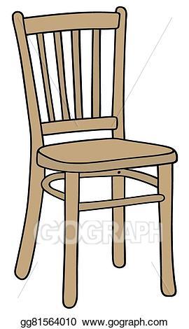 Vector art wooden eps. Clipart chair
