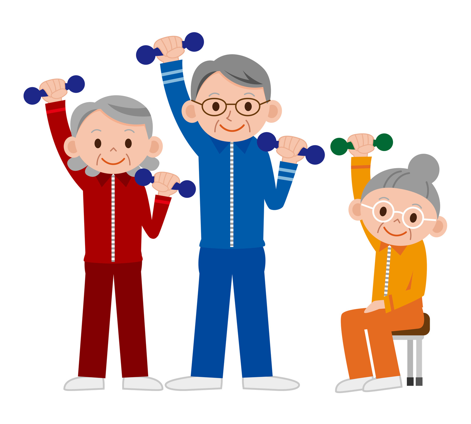 Chair cliparts zone . Exercising clipart senior exercise