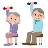Chair aerobics clip art. Exercising clipart elderly