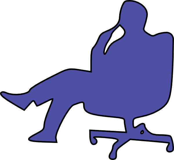 Man in thinking clip. Clipart chair animated