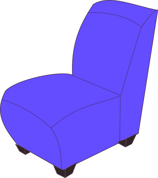 Clip art at clker. Furniture clipart comfy chair