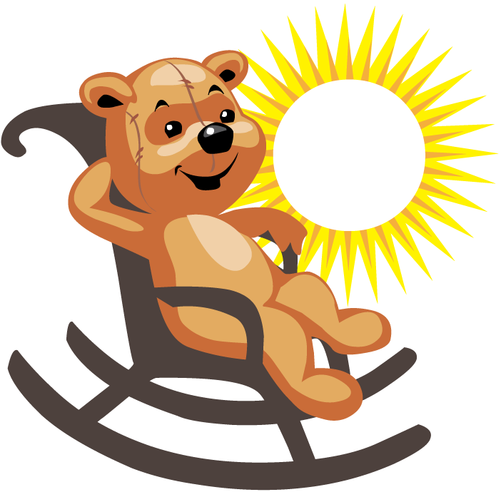 Clipart chair baby bear. Family at getdrawings com