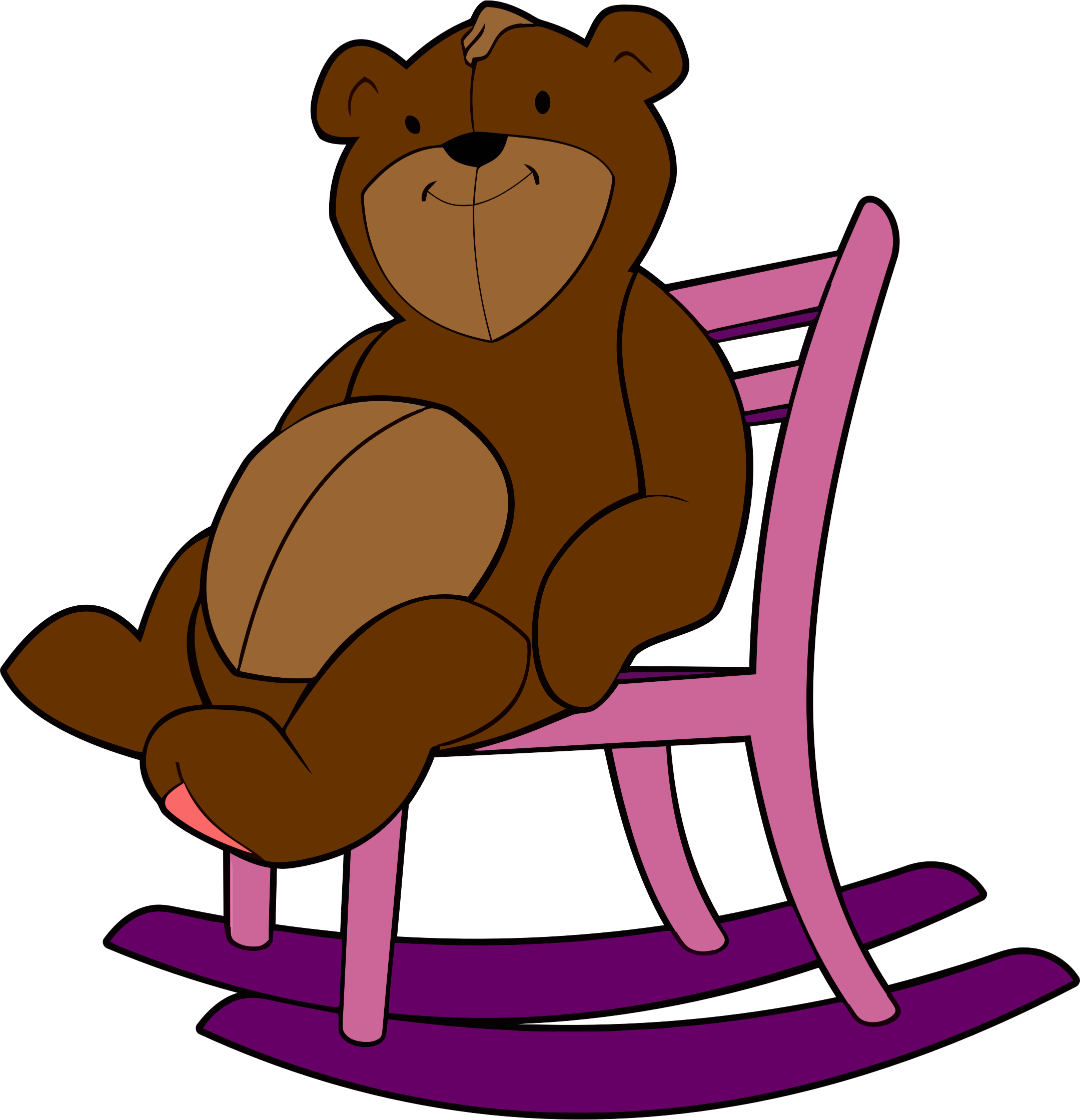 Papa pencil and in. Clipart chair baby bear