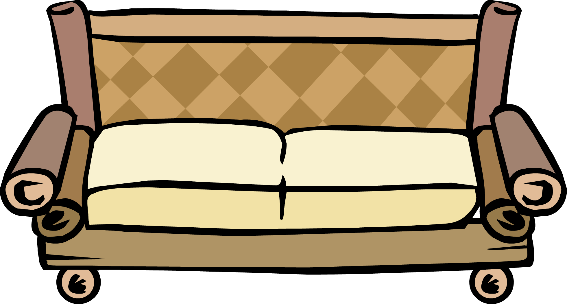 Clipart chair bamboo chair. Couch club penguin wiki
