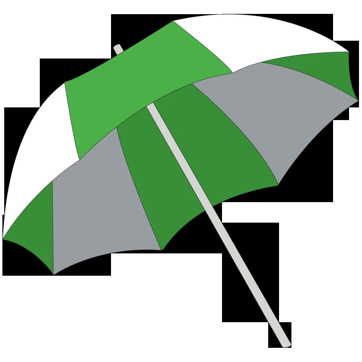 Green and white beach. Windy clipart windy umbrella