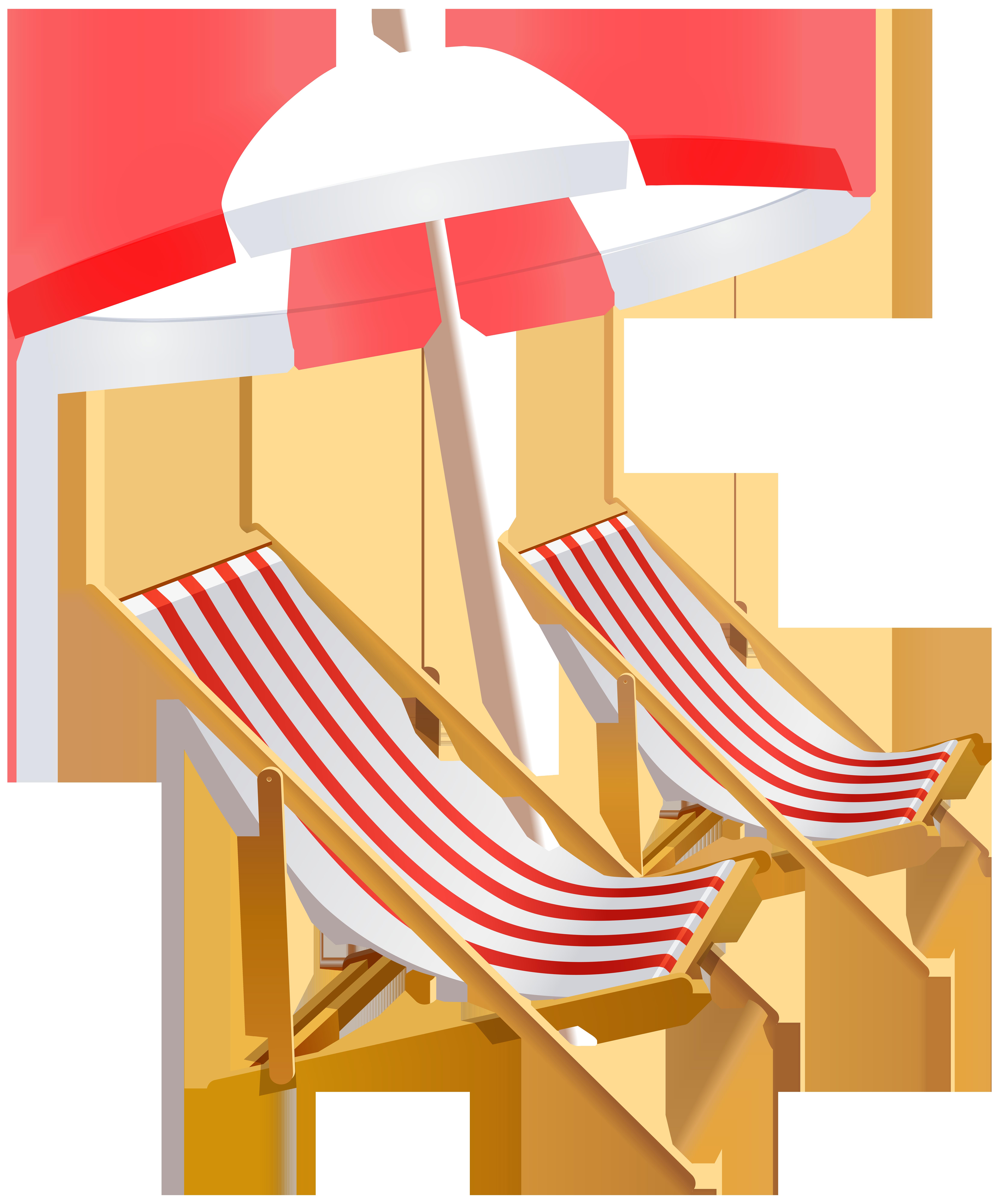 Beach umbrella and chairs. Furniture clipart furniture sale
