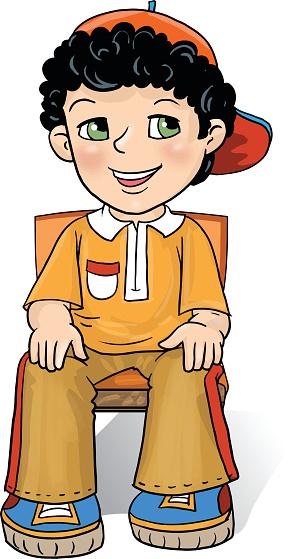 Sitting in a clip. Clipart chair boy
