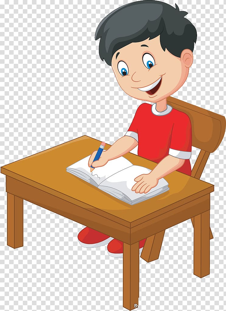 Clipart chair boy. Sitting on illustration writing